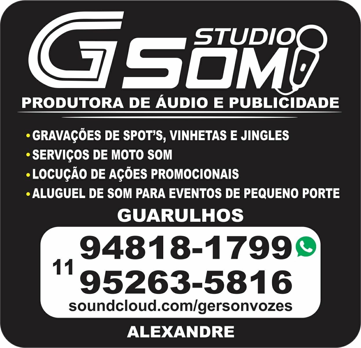 G-SOM STUDIO PRODUTORA DE AUDIO E PUBLICIDADE